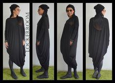 Black ASYMMETRIC maxi dress /Black Long kaftan  / Black Tunic top / Black maxi top / Black long tunic by ClothesByLockerRoom on Etsy https://www.etsy.com/uk/listing/210286226/black-asymmetric-maxi-dress-black-long
