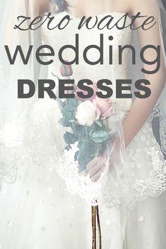Zero waste, eco friendly, ethical wedding dresses from www.goingzerowaste.com