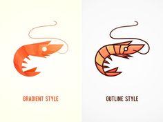 SA9527-Seafood Prawns 2 by SA9527 #Design Popular #Dribbble #shots