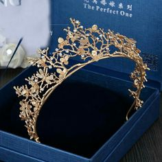 2016 New Trendy Vintage Gold Flower Bridal Crown Charming Rhinestone Tiaras for . - 2016 New Trendy Vintage Gold Flower Bridal Crown Charming Rhinestone Tiaras for Women Wedding Diade - Wholesale Hair Accessories, Bridal Hair Accessories, Jewelry Accessories, Jewelry Trends, Trendy Accessories, Wholesale Jewelry, Vintage Accessories, Jewelry Ideas, Vintage Jewelry