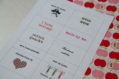 i love sewing!: etiketten/label selber machen