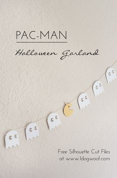 Use this free template to create your own pacman halloween garland for a fun and festive holiday!