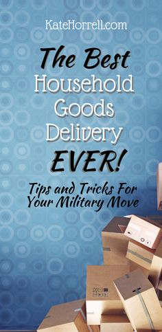 Moving is hard! Make it easier with the best tricks from experienced military spouses! Military Spouse, Military Life, Military Families, Deployment Care Packages, Finance Tips, Personal Finance, How To Find Out, Household, Delivery