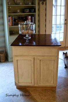 You Want Your Own Island Make One Diy Kitchen Island Kitchen Islands Diy Kitchens And Diy