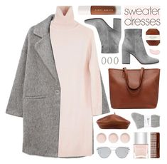 """""""cozy & cute: sweater dresses"""" by jesuisunlapin ❤ liked on Polyvore featuring Forever 21, MANGO, Ryan Roche, Gianvito Rossi, Pelle, NYX, Johnstons, Accessorize, Nails Inc. and Puma"""