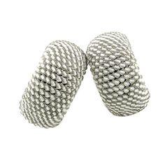 Hemmerle Gray Quartz Hoop Earrings