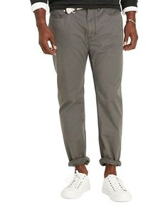 Polo Big And Tall Classic-Fit Stretch Five-Pocket Pants Men's Grey 44X