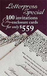 $559 letterpress invitation special