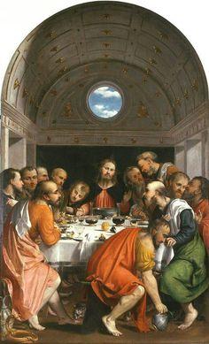 Girolamo Romani (Il Romanino), The Last Supper, 1535 Chiesa di Santa Maria Assunta, Montichiari (Brescia)