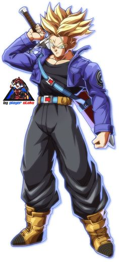Dragon Ball Fighterz Trunks SSJ by PlayerOtaku.deviantart.com on @DeviantArt