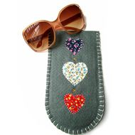Felt Heart Sunglasses Case - Glasses - Large - Mothers Day