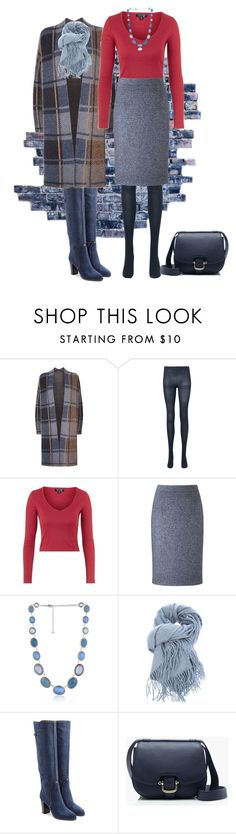 """""""Untitled #1157"""" by milliemarie ❤ liked on Polyvore featuring SET, Uniqlo, Topshop, Viyella, Napier, Nomad, Sergio Rossi and J.Crew"""