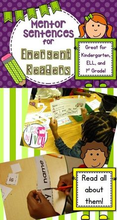 Using mentor sentences with emergent readers? Absolutely! Read about how in this post and see a video of them in action, too!