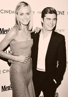 Taylor Schilling & Zac Efron on #TheLuckyOne!
