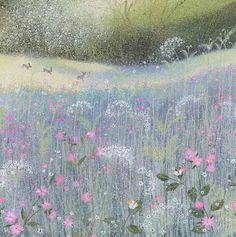 "myfairynuffstuff: "" Lucy Grossmith - Spring Joy. Acrylics on deckle edged paper. """