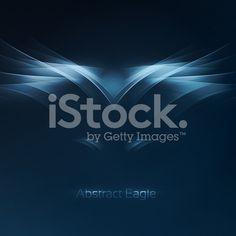 Symbole abstrait eagle cliparts vectoriels libres de droits