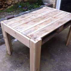 Tisch aus Palette