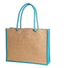 9f93966d995 Jute/ Burlap two tone Beach Shopping Tote Bag • Thick long cotton rope  handles