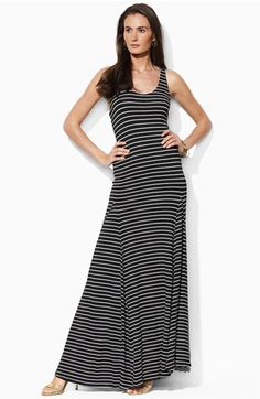 Lauren by Ralph Lauren Scoop Neck Maxi Dress