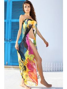 Adaptable Chiffon Beach Dress Geometric Blue Beachwear Swimming Cover Ups Beach Cover Up Cangas De Praia Tunika Beach Bikini Wrap Dress Sports & Entertainment