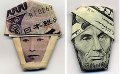 A new take on making money...   moneygami.