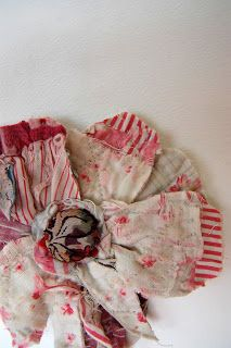 Thread and Thrift: Fabric Flowers