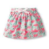 Say hello to this sweet skirt. Allover fun print is so fun for summer and included jersey short helps keeps her covered.
