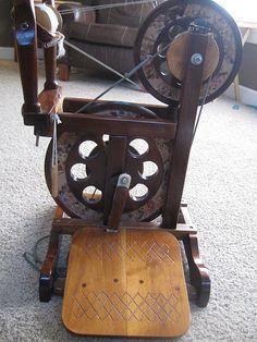 Betty Roberts spinning wheel