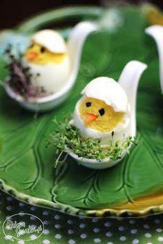 Baby Chick stuffed eggs