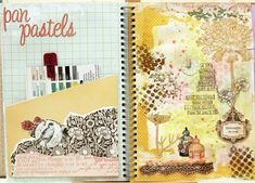 """k&co smash! iris babao uy: """"having her K&Co Smash book to hold an inventory of her art supplies. """""""