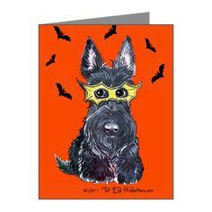 Terrific Terrier Halloween Note Cards