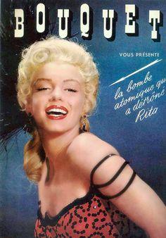 Marilyn Monroe - Bouquet,1954. French.