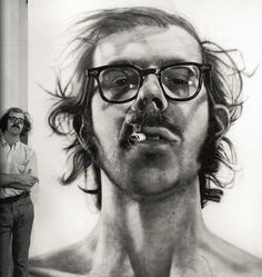chuck close, 1968, Self-Portrait, painting,