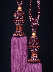 Luxury Tassels and Accessories Tassel Jewelry, Tassel Earrings, Beaded Jewelry, Jewellery, Plum Bedding, Beautiful Blinds, Right Angle Weave, Textile Fiber Art, Purple Orchids
