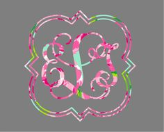 Quatrefoil Monogram Car Decal on Etsy, $8.00
