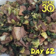 """Late lunch after a busy morning! A skillet with everything we have left in the fridge: shaved Brussels sprouts, baby spinach, balsamic chicken, chopped dates, prosciutto, garlic, and a drizzle of lemon oil and more balsamic.  #whole30 #whole100 #CTLTwhole100 #whole30homies #2015IGwhole30 #eatrealfood #cleaneating #jerf #healthy #mealideas #paleo #recipe #blog #considertheleafTURNED #day62"" Photo taken by @considertheleafturned on Instagram, pinned via the InstaPin iOS App…"