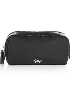 Anya Hindmarch   Girlie Stuff patent leather-trimmed cosmetics case   NET-A-PORTER.COM