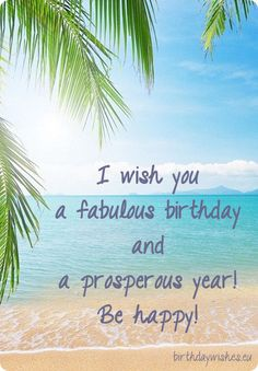 Find This Pin And More On Birthday Wishes By Happy Bday Ecard With Paradise Beach