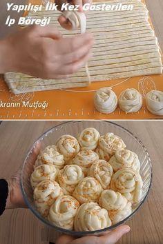 Spring Rolls Dessert Recipes Sarma ve dolma tarifi Pizza Recipes, Bread Recipes, Dessert Recipes, Cooking Recipes, Desserts, Pastry Display, Food Garnishes, Dessert Bread, Arabic Food