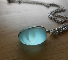Faux Sea Glass Jewelry  Beach Glass Necklace  by SeaFindDesigns, $15.00