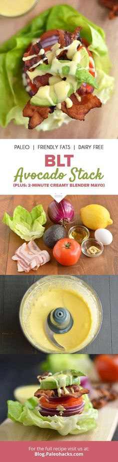 Move over sad, boring desk lunch. This BLT avocado stack fuses your fave sandwich fillings with a healthy twist. Get the recipe here: http://paleo.co/BLTavostack