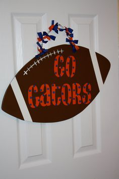 Gators Football Sports Door Hanger by aWhimsicalWelcome on Etsy, $28.00