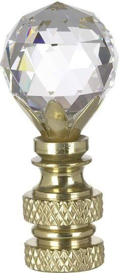 0-000845>Swarovski Faceted Crystal Ball Finial
