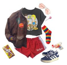 """Hey Butt-Head!"" by van-gogh-kid ❤ liked on Polyvore featuring J.Crew and Retrò"