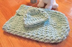 Green Baby Cocoon Crochet Baby Sleeper Baby Sleep Set