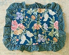 Pillow Shams, Bed Pillows, Vintage Bedding, Floral Tops, Lady, Blue, Women, Fashion, Pillowcases