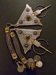 SALE  Rare Vintage Moroccan Silver Brooch Fibula Pins Berber Antique Collectibles