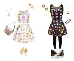 """""""BFF outfits another-words Layla and me"""" by hailey-chitwood ❤ liked on Polyvore featuring Kate Spade"""
