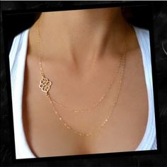 Beautiful double layer necklace Simple and chic gold tone double layer necklace. NEW Jewelry Necklaces