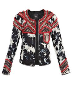 Isabel Marant Spring 2012 RTW Weez Embroidered Quilted Jacket